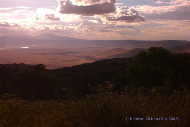 Abendstimmun am Ngorongoro Krater