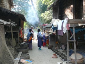 Spaziergang durch das Dorf