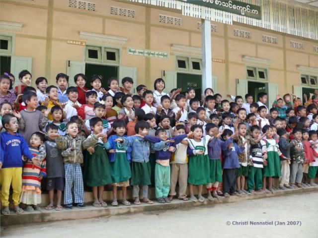 Begeisterte Schulkinder