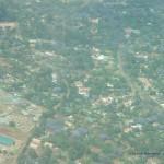 Flug über Nairobi