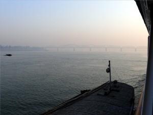In Wa Brücke in Sicht