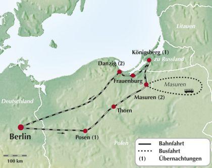 Masuren Zugreise: Rundreise durch das ehemalige Ostpreußen / Polen