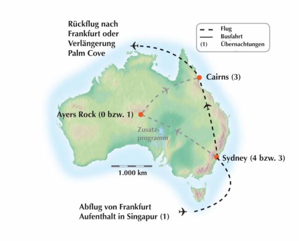 Australien: Gruppenrundreise durch den Kontinent der Kontraste