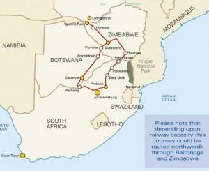 Rovos Rail Strecke Pretoria - Victoria Falls