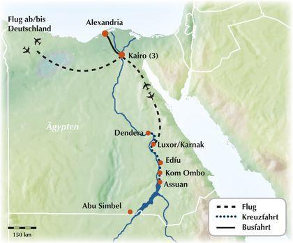 Nilkreuzfahrt: 11-tägige Gruppenrundreise durch Ägypten - Auf den Spuren der Pharaonen und altägyptischer Schätze