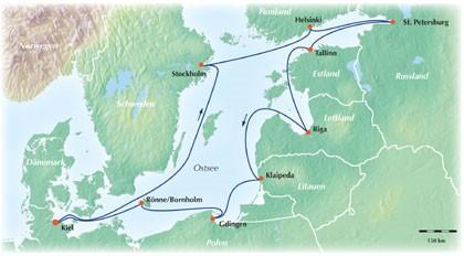 12-tägige Baltikum Ostsee Kreuzfahrt: Nehmen Sie Kurs auf die Metropolen der Ostsee!