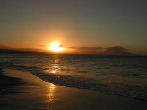 Domenikanische Republik Sonnenuntergang Sosua