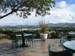 Blick auf Windhoek vom Hotel Heinitzburg