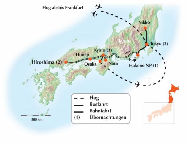 Konnnitschiwa - Willkommen auf unserer exklusiven Gruppenrundreise durch Japan