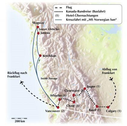 Kreuzfahrt Kanada und Alaska: Eine Gruppenrundreise zu Fjorden und Gletschern
