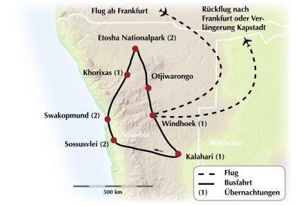 Exklusive Gruppenrundreise durch Namibia - Ein Land zwischen Küste und Wüste