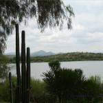 Penduka liegt an diesem Damm