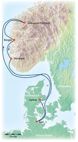 Norwegen Kreuzfahrt: 7-tägige Gruppenreise / Rundreise zu den gewaltigen Fjordlandschaften Norwegens!