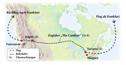"Kanada-Zugreise mit dem ""Canadian"": Gruppenrundreise von Ost nach West "