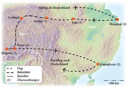 Gruppenrundreise durch China / Tibet: Mit dem Sonderzug auf das Dach der Welt