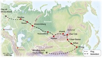 Transsibirische Eisenbahn: Eine exklusive Gruppenrundreise von Moskau nach Peking (und umgekehrt) im Sonderzug