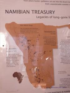 Vorkommen der Felsgravuren in Namibia