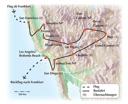 Unvergessliche USA-West Gruppenrundreise: Faszination zwischen Pazifik und Canyon