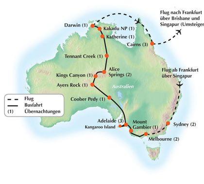 """""""Australien Intensiv"""" 24-Tage Gruppenreise / Rundreise nach Downunder"""