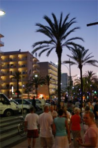 Partymeile in Lloret de Mar