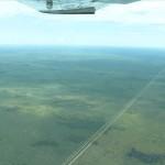 Veterinärzaun zwischen Botswana und Namibia
