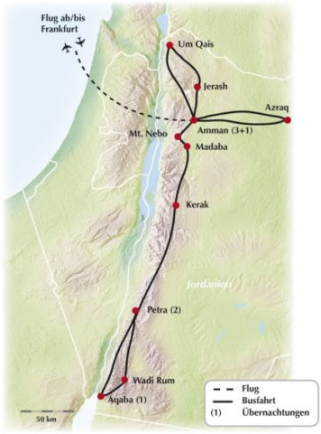 Mit Kiwi Tours auf eine 8-tägige Gruppenreise - Rundreise in Jordanien!