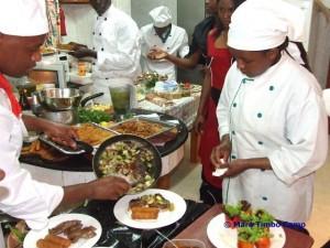 Hier werden die schmackhaften Gerichte zubereitet