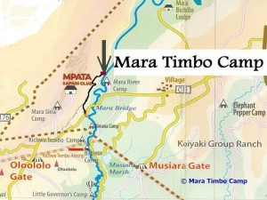 Lage des Mara Timbo Camps