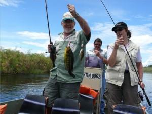Zwei Fische sind gefangen!
