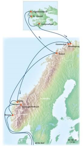 15 Tage Gruppen-Reise / Rundreise: Eine traumhafte Kreuzfahrt durch Norwegens Fjorde