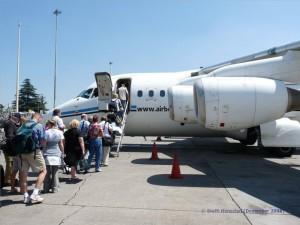 Mit Air Botswana geht es weiter