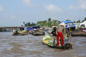 Mekong Delta Verkaufsboot