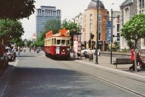 Trambahn in Christchurch