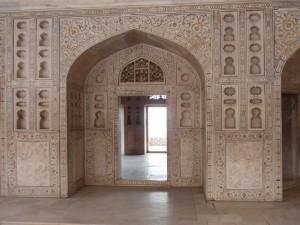Marmorarbeiten im Agra Fort