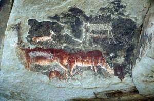 800 Jahre alte Felsmalereien