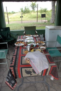 Hwange Nationalpark - Shumba Campingplatz - Mittagessen