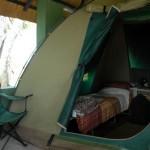 Hwange Nationalpark - Shumba Campingplatz - Zelt Innen