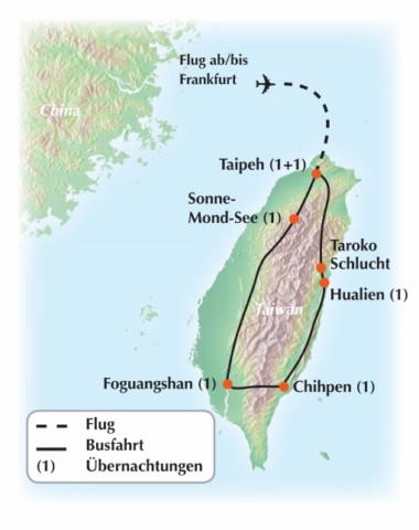 Gruppenreise nach Taiwan – von Taipeh bis zu den buddhistischen Mönchen von Foguangshan