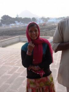 Sängerin am See von Pushkar