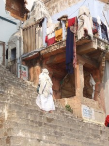 steile Treppen in Varanasi