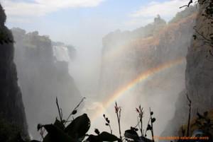Victoria Falls, Blick in die Schlucht beim Devil's Cataract