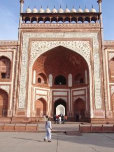 Haupteingang am Taj Mahal