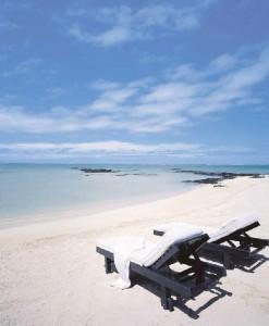 Ilot Mangenie die hoteleigene Badeinsel Le Touessrok Mauritius