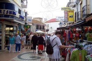 Calle San Miguel-Einkaufsstrasse von Torremolinos
