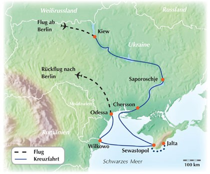 Entdecken Sie die Ukraine auf einer 13-tägigen Dnjepr Flusskreuzfahrt