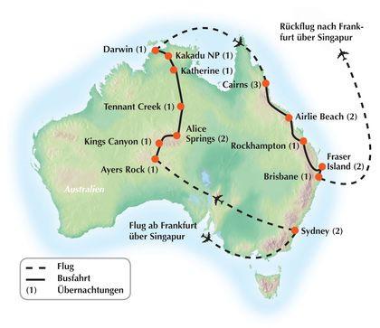 """Exklusive Gruppenreise durch Australien - """"Kontraste Australiens"""""""