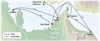 Orient-Kreuzfahrt ab / bis Dubai