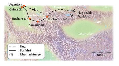 """Deutschsprachig geführte Gruppenreise durch Usbekistan - """"Erlebnis Seidenstraße"""""""