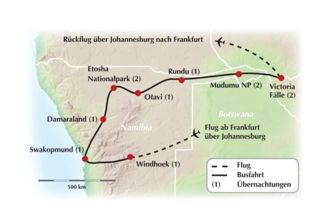 Deutschsprachig geführte Rundreise durch Namibia – Das Abenteuer Caprivi!
