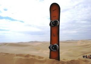 Sandboards sind spezielle Snowboards zum Fahren auf Sand